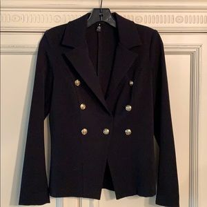 AQUA Bloomingdales Brand black jacket